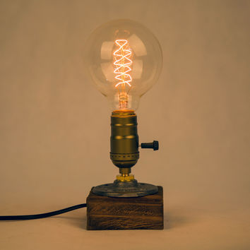 Vintage Desk Light Wooden Table Lamp Edison Bulb E27 Study Bedroom Night Light Table Light Desk Lamp Coffee Bar Decoration
