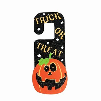 Halloween Paper Pendant Ghost Festival Witch Door Hanging Pumpkin Bats Ghosts Door Ornaments Home Decoration 6A0517