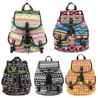 Vintage Campus Bag Canvas Floral School Satchel Rucksack Backpack Colors 18368 = 5613064577