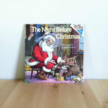 The Night Before Christmas {1975} Vintage Book