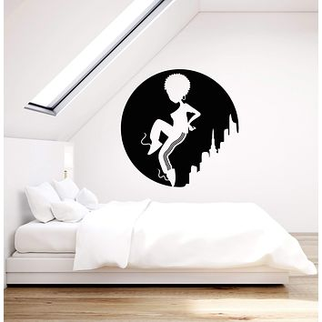 Vinyl Wall Decal Teenager African Girl Dancer Hip Hop Dance Stickers (2957ig)