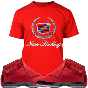 Jordan 18 Red Suede Sneaker Tees Shirts - NEVER LACKING
