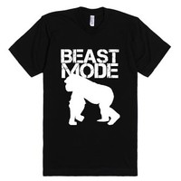 Beast Mode-Unisex Black T-Shirt