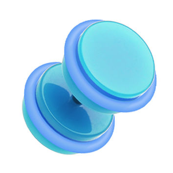 Neon Acrylic Fake Plug with O-Rings
