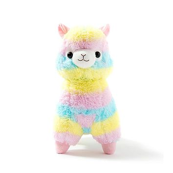 1pc 17cm Rainbow Alpaca Vicugna Pacos Plush Toy Japanese Soft Plush Alpacasso Baby Plush Stuffed Animals Alpaca Gifts