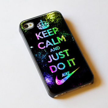 Keep Calm And Just Do It Nike Logo For iPhone 5 by TlogosariJaya