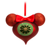 Minnie Mouse Reflector Glass Ornament