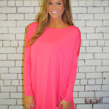 PIKO 3/4 Sleeve Top - Coral