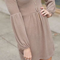 Thinking About You Dress (Mocha) - Piace Boutique