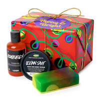 Merry And Bright Wrapped Gift