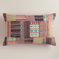 Multicolor Patchwork Lumbar Pillow