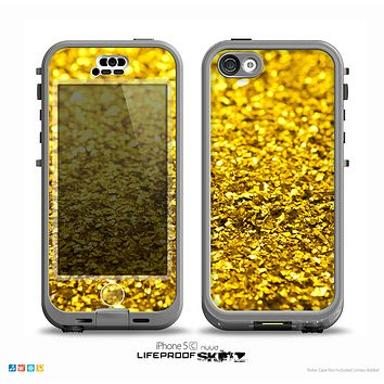 The Gold Glimmer Skin for the iPhone 5c nüüd LifeProof Case