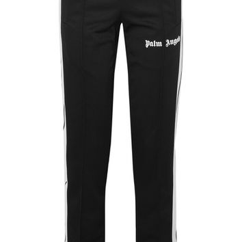 Palm Angels - Striped satin-jersey track pants