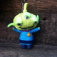 Aliens Toy story Little green men Voodoo String Doll Funny Keyring Keychain Key Ring Key Chain Bag Car