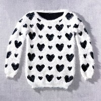 Robbi & Nikki Textured Heart Sweater | Nordstrom