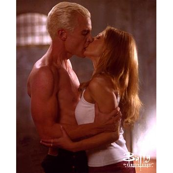 Buffy The Vampire Slayer Cast Spike Buffy Kiss 11 inch x 17 inch poster