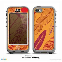 The Orange and Red Vector Feathers Skin for the iPhone 5c nüüd LifeProof Case