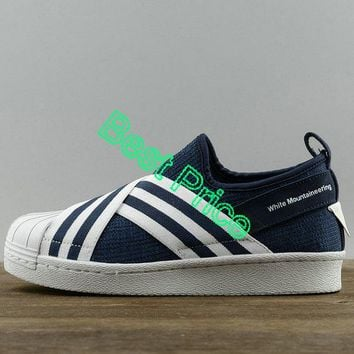 nike sneakers vintage Adidas Superstar Slip-On x White Mountaineering Blue White BY2879 new sneaker