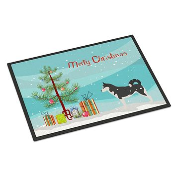Siberian Husky Merry Christmas Tree Indoor or Outdoor Mat 24x36 BB2998JMAT