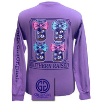 Girlie Girl Originals Collection Southern Raised Bow Comfort Colors Bright Long Sleeves T Shirt