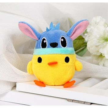 Super Kawaii 7*5CM HAT Chicken Stuffed Plush TOY DOLL ; Gift Key chain Plush Wedding Bouquet DOLL TOY