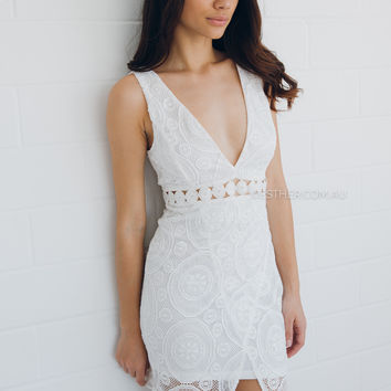 hope lace dress - ivory