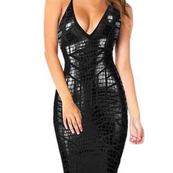 Harris Reptile Skin Bandage Dress