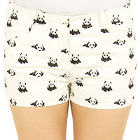 Girls Panda Print Shorts