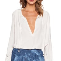 Erin Kleinberg Le Husband #1 Blouse in Ivory