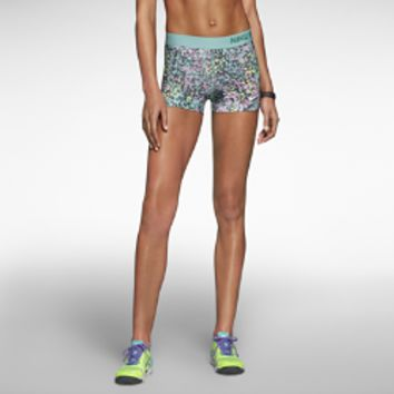 """Nike 3"""" Pro Core Compression Printed Women's Shorts - Diffused Jade"""