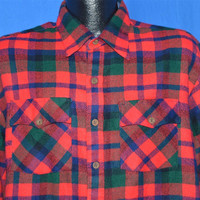 90s Red Green Blue Flannel Button Down Shirt Extra Large