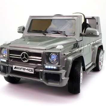 Mercedes G65 AMG 12V Kids Ride-On Car with Parental Remote | Gray Metallic