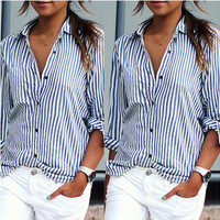 Blue Striped Button Down Dress
