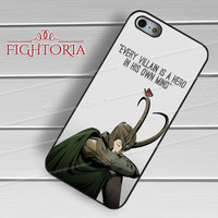 Every Villain is a Hero The Avengers Loki - zDzA for  iPhone 6S case, iPhone 5s case, iPhone 6 case, iPhone 4S, Samsung S6 Edge