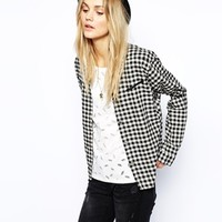 Maison Scotch Shirt with Western Pockets in Gingham