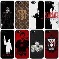 scarface Black Plastic Case Cover Shell for iPhone Apple 4 4s 5 5s SE 5c 6 6s 7 Plus