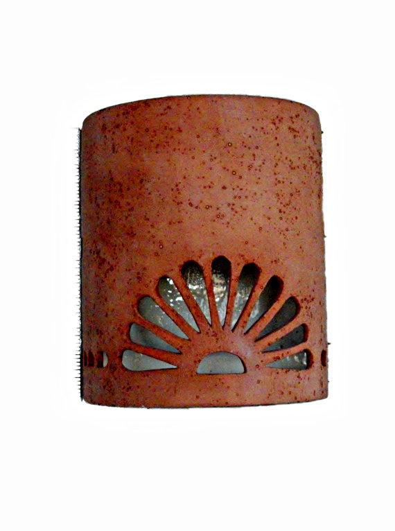 New Mexican Wall Sconces : Southwestern Spanish style ceramic wall from Custom Cut Lighting