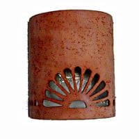 Southwestern Spanish style ceramic wall sconces handmade to order in New Mexico USA