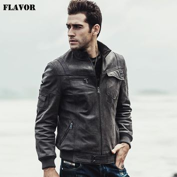 NEW Mens Motorcycle Real leather jacket