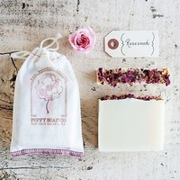 Poppy Soap Co: Organic Handmade Bar Soap, in Rosewood