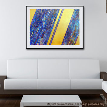 "Large 40X30"" Original Modern Abstract Acrylic Textured Painting on Canvas ""Gold Pattern Phase Two""  FREE Shipping"