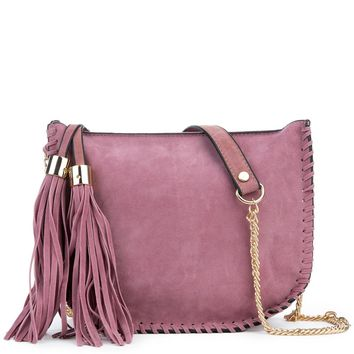Women's Fringe Suede Shoulder Purse
