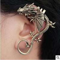 New style fashion Punk Dragon ear cuff vintage clip earring jewelry for women = 1669361284