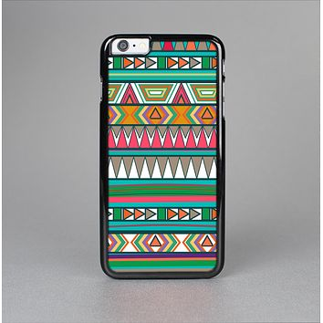 The Tribal Vector Green & Pink Abstract Pattern V3 Skin-Sert Case for the Apple iPhone 6 Plus