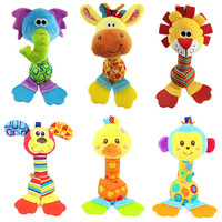 Rattles Kids Toys Chidren's Baby Toys stuffed animal plush toys baby teether hanging strollers bb sound toys christmas gift