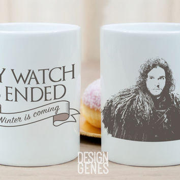 My watch is ended Jon Snow Game of Thrones mug