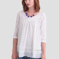 Reach For The Clouds Lace Blouse