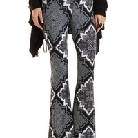 Paisley Print Knit Flare Pants by Charlotte Russe