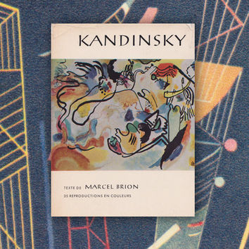 "Marcel Brion ""Kandinsky"", Vintage 5''x7'' Book (In French) -- 1960"