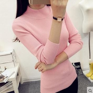 2017 brand winter women casual turtleneck sweaters hot sale lover black pullover female knitted crop oversized cashmere sweater